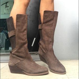 NWT EMU Australia Allira Brown Leather Wedge Boots